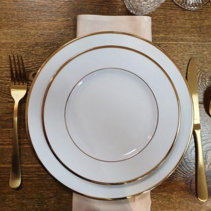 Location assiette Filet Or -D26 cm