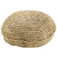 Pouf en sisal naturel