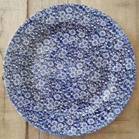 Location assiette plate vintage -VICTORIA Bleue D30.5cm